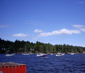 Salt Spring Air is one way to arrive on the island - by float plane.