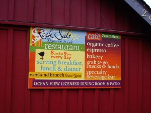 Great color on the Rock Salt Café sign in Fulford Harbour!