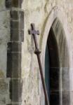 England 2012 Whatlington church window and cross